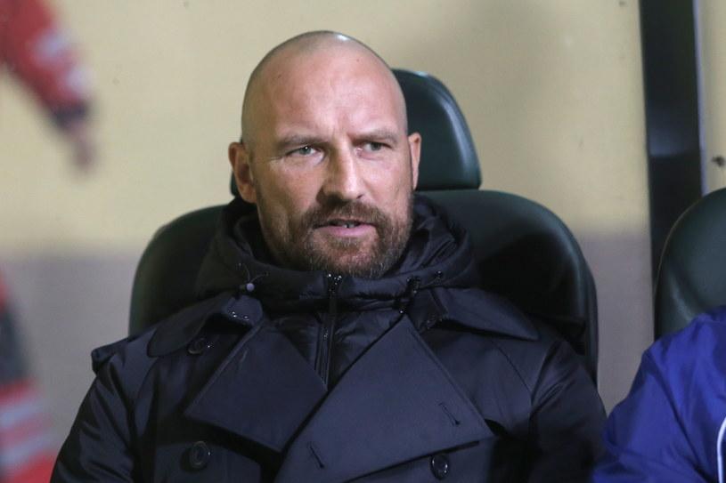 Maciej Stolarczyk podczas meczu z Rakowem /Waldemar Deska /PAP