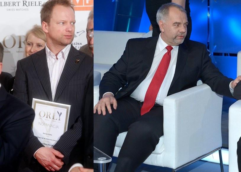 Maciej Stuhr i Jacek Sasin /- /AKPA