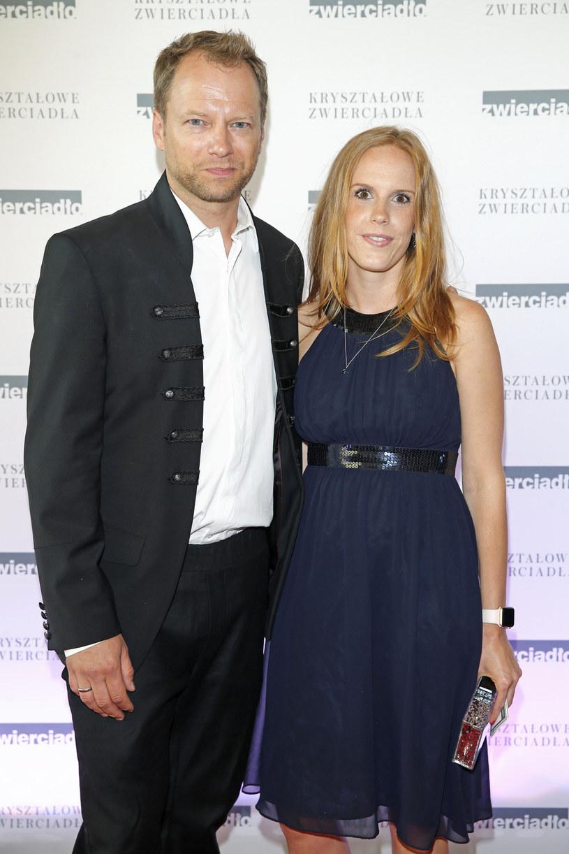 Maciej Stuhr z żoną Katarzyną Błażejewską-Stuhr /Podlewski /AKPA