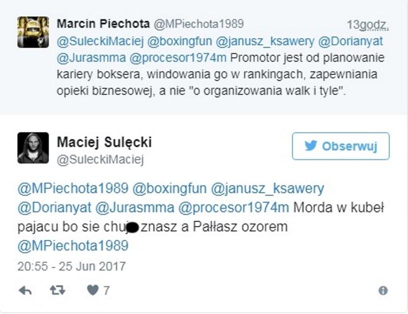 Maciej Sulęcki chamsko strofuje rozmówcę /fot. Twitter /