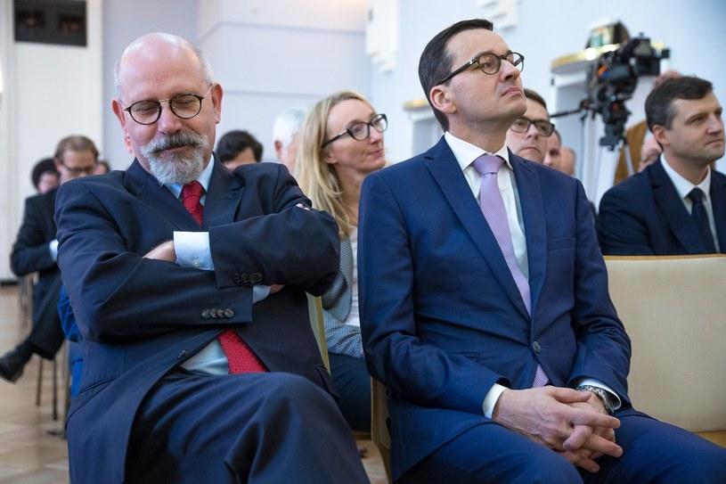 Maciej Świrski z PFN i premier Mateusz Morawiecki /Michał Woźniak /East News