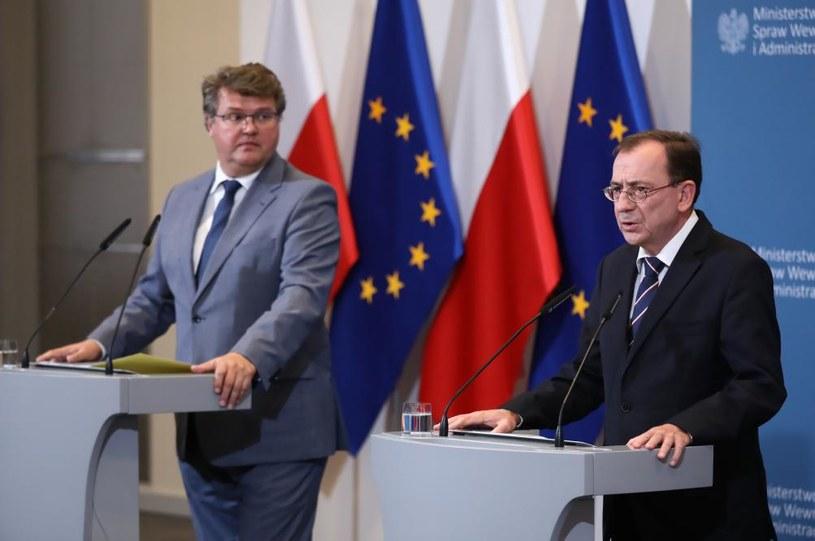 Maciej Wąsik i Mariusz Kamiński /Tomasz Gzell /PAP