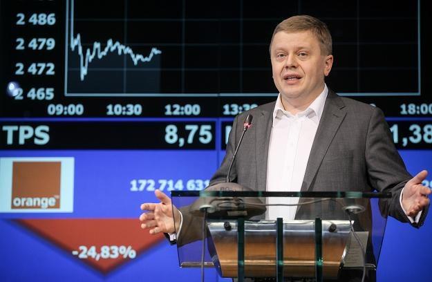 Maciej Witucki, prezes Orange Polska, dzisiaj na GPW /PAP