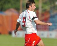 Maciej Żurawski zdobył jedynego gola w meczu z Albanią /Ernest Antos