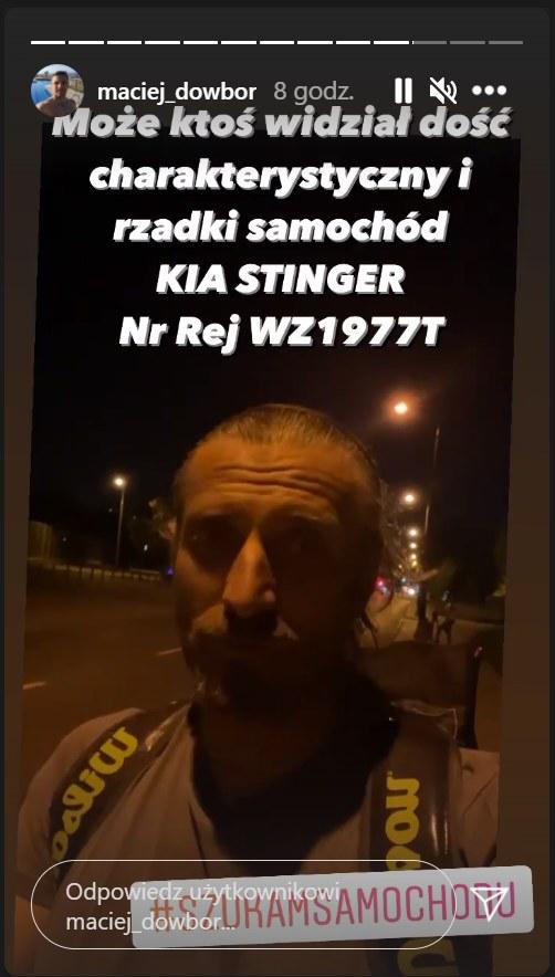 Maciejowi Dowborowi skradziono samochód/ Zdjęcie pochodzi z https://www.instagram.com/maciej_dowbor/?hl=pl /Instagram