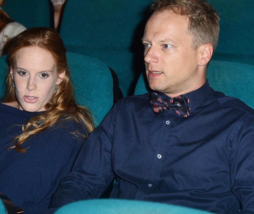 Maciek z żoną /- /MWMedia