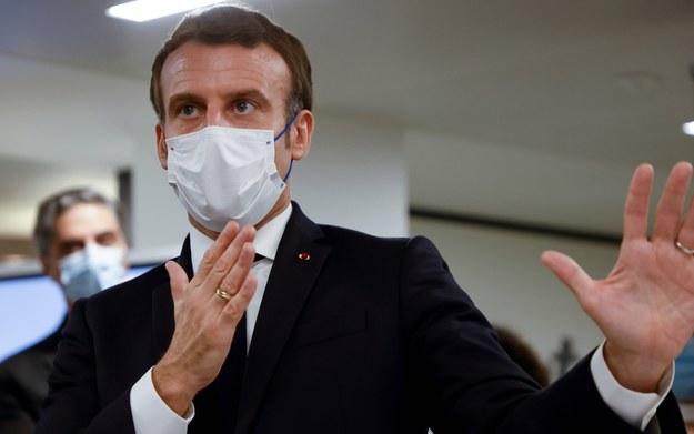 Macron: Szczyt drugiej fali epidemii minął