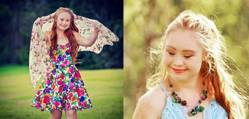 Madelline jest 18-letnią modelką z zespołem Downa /https://instagram.com/madelinesmodelling_/ /Internet