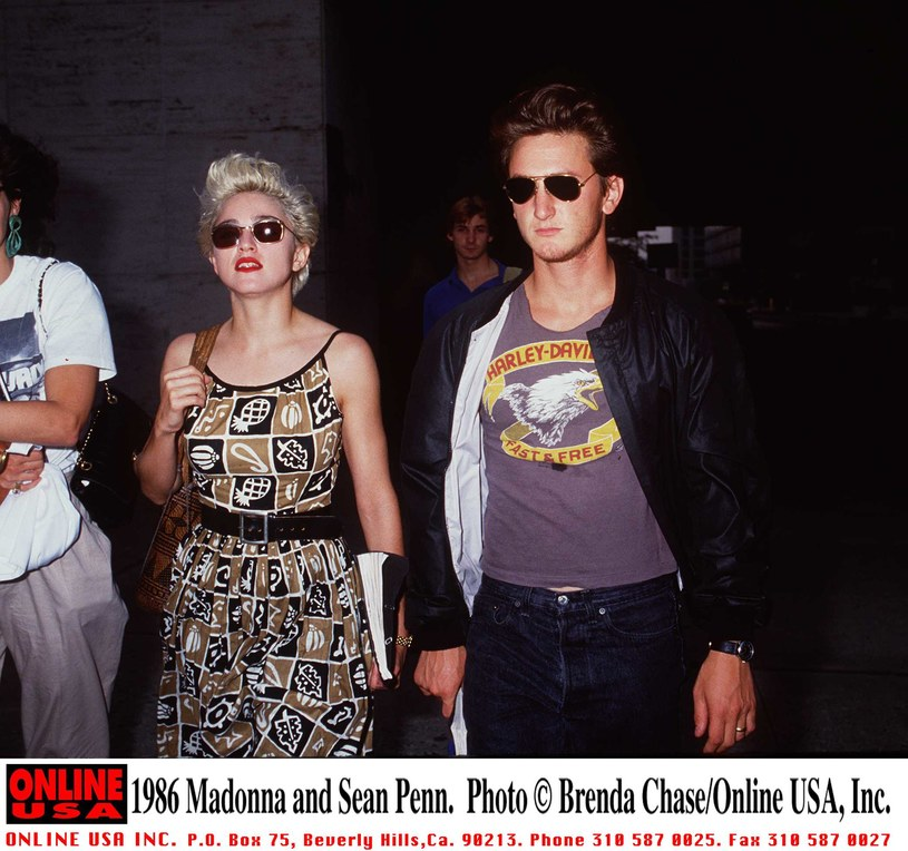 Madonna i Sean Penn, 1986 r. /Brenda Chase /Getty Images