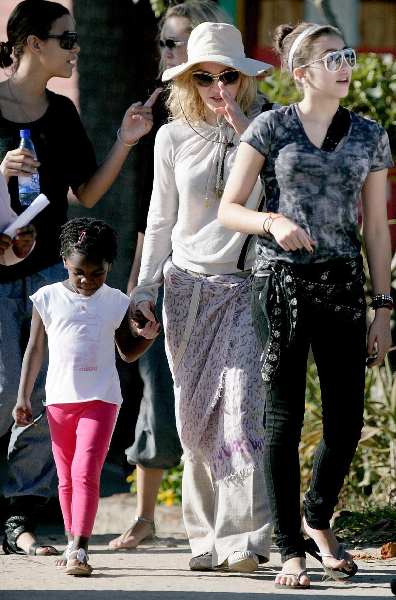 Madonna z obiema córkami - Lourdes i Mercy  /Getty Images/Flash Press Media