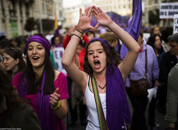 Madryt: Protesty przeciwko zaostrzeniu ustawy aborcyjnej, 08.03.2014 /AP/FOTOLINK /East News