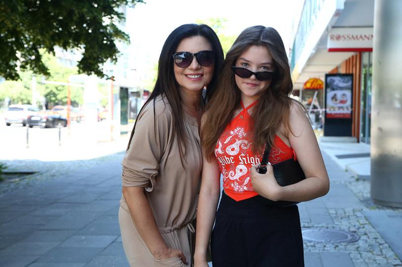 Magda Femme i jej 13-letnia córka Nel /Krzysztof Jarosz /Agencja FORUM