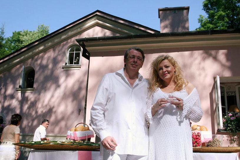 Magda Gessler i Waldemar Kozerawski, 2005 r. /Warda /AKPA