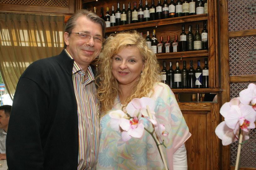 Magda Gessler i Waldemar Kozerawski, 2005 r. /Rafał Maciąga /Agencja FORUM