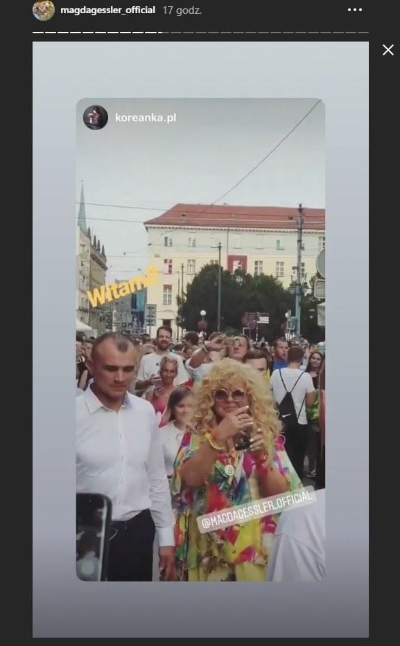 "Magda Gessler na otwarciu swojej lodziarni ""Ice Queen"" we Wrocławiu /Instagram/Magda Gessler /Instagram"