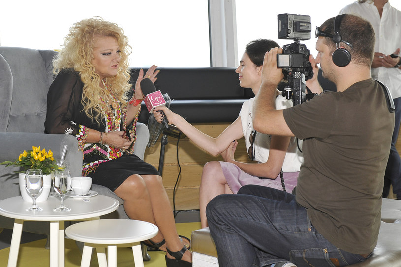 Magda Gessler podczas wywiadu /Gałązka /AKPA