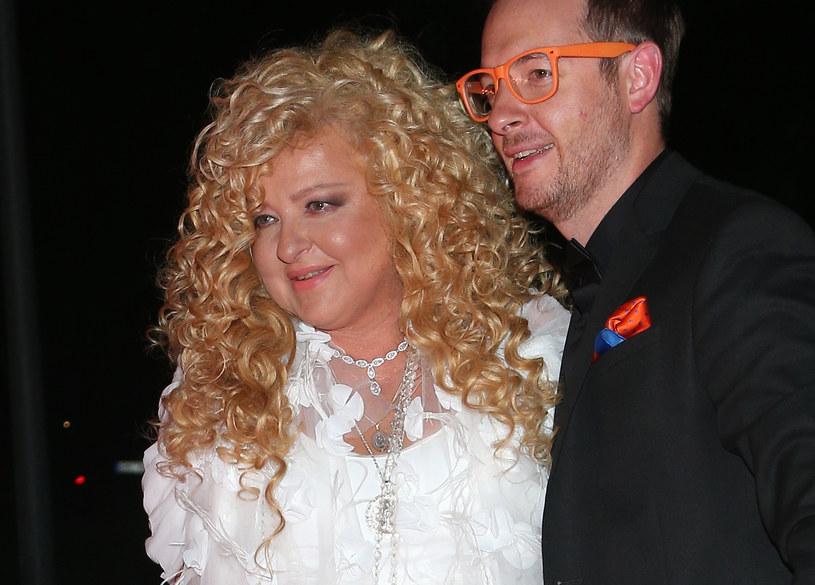 Magda Gessler z synem /Pawel Wrzecion /MWMedia