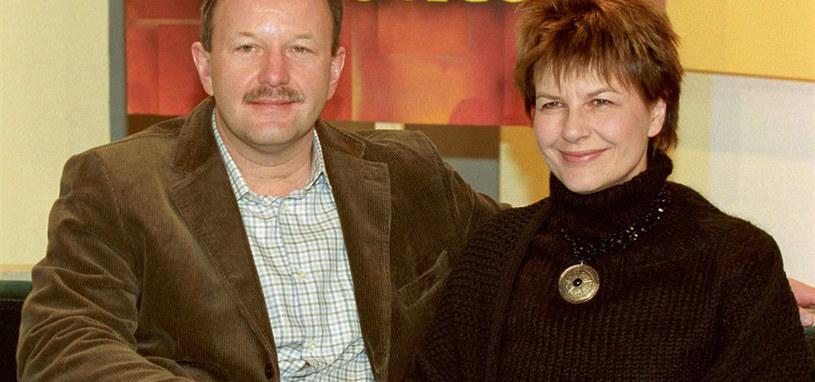 Magda Mikołajczak-Olszewska  z mężem Olafem /brak /AIM