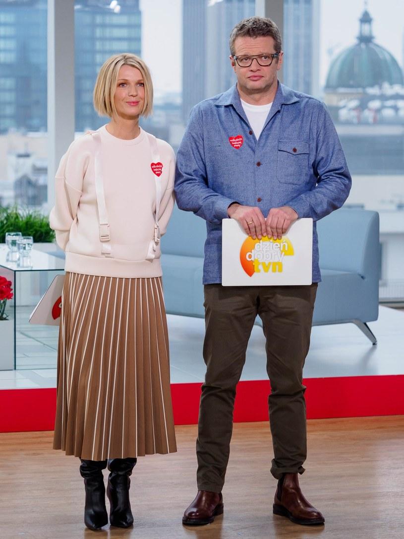 Magda Mołek i Marcin Meller, 2019 rok, fot. TOMASZ URBANEK/Dzien Dobry TVN/East News /East News