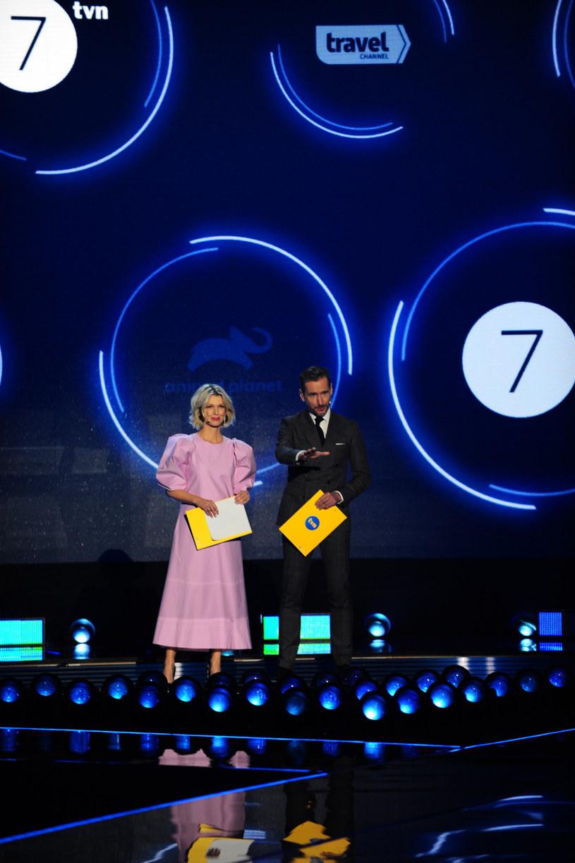 Magda Mołek i Piotr Kraśko prowadzili prezentację ramówki TVN /Artur Zawadzki /East News