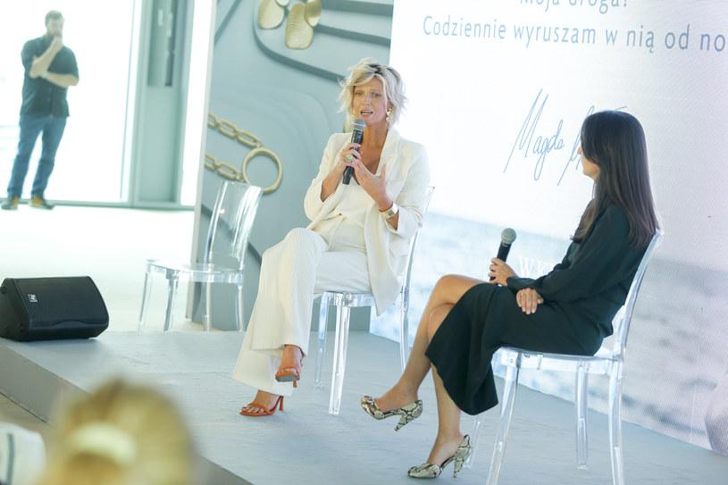 Magda Mołek na prezentacji biżuterii /Podlewski /AKPA