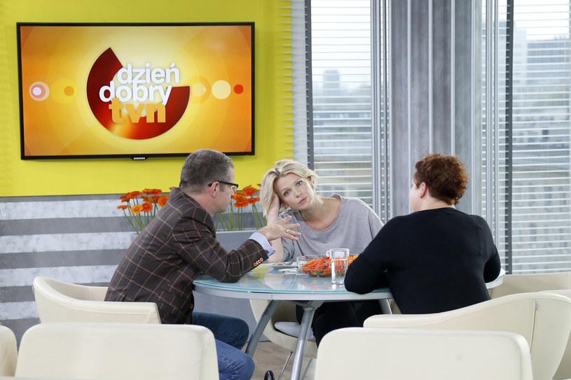 Magda Mołek prowadziła DDTVN m.in. z Marcinem Mellerem /Podlewski /AKPA