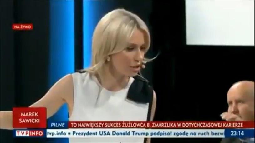 Magda Ogórek zaczęła krzyczeć na wizji, fot. screen z programu TVP /