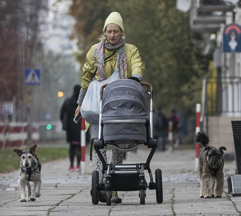 Magda Popławska z córką /Foto IP
