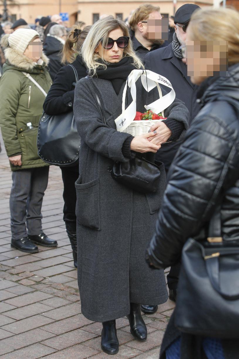Magda Schejbal na pogrzebie /AKPA /AKPA