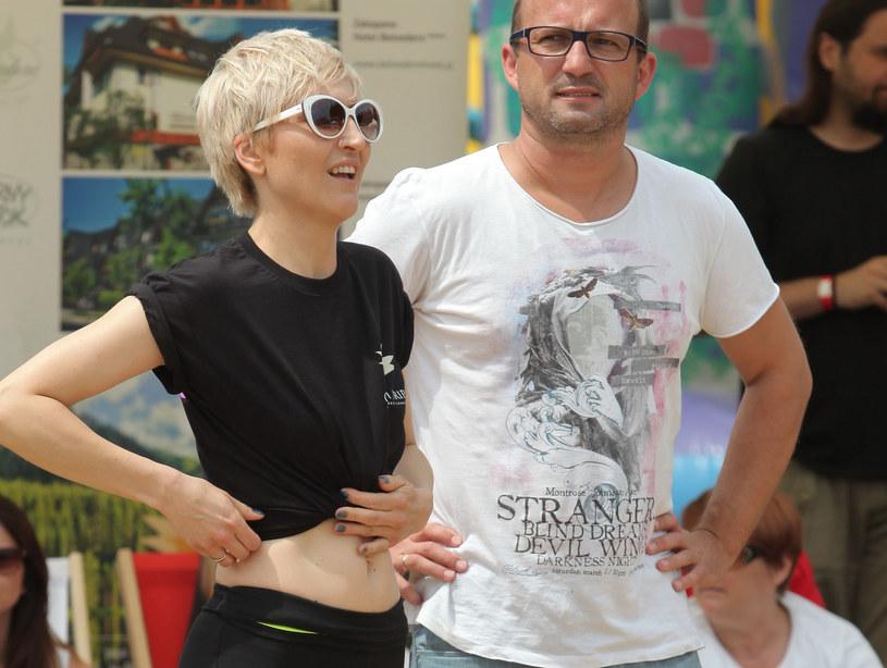 Magda Steczkowska z mężem /Paweł Wrzecion /MWMedia