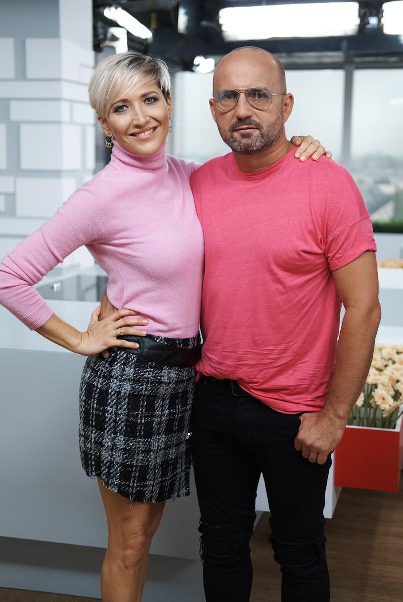 Magda Steczkowska z mężem /Bartosz Krupa /East News