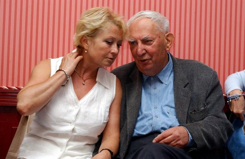 Magda Zawadzka i Gustaw Holoubek /Krzysztof Wojda /Reporter