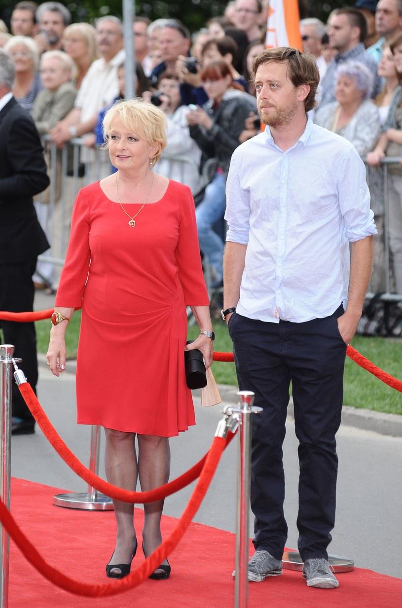 Magda Zawadzka i syn Jan /Szilagyi /MWMedia