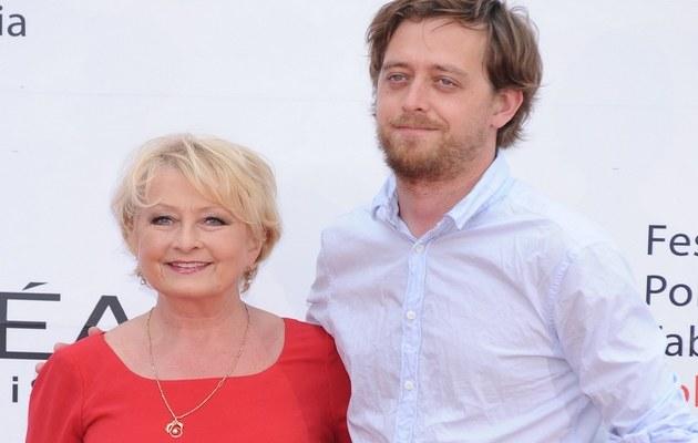 Magda Zawadzka z synem Janem /Szilagyi /MWMedia