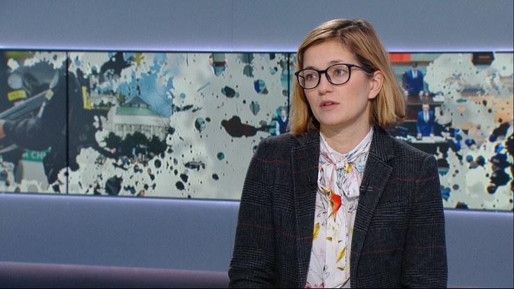 """Magdalena Biejat w programie """"Graffiti"""" /Polsat News"""