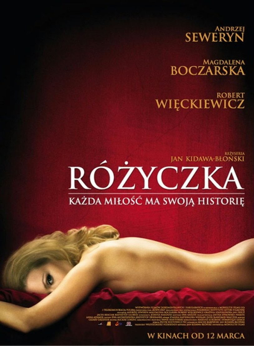 "Magdalena Boczarshka na plakacie filmu ""Różyczka"" /Monolith Films /materiały dystrybutora"