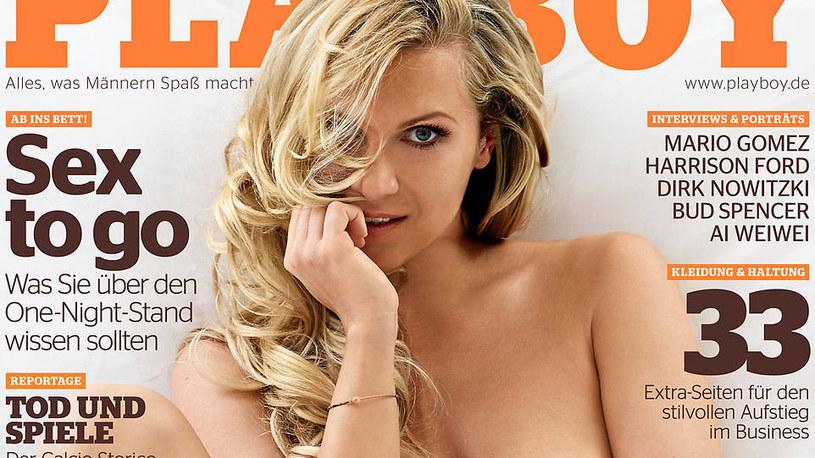Magdalena Brzeska na okładce niemieckiego Playboya /INTERIA.PL