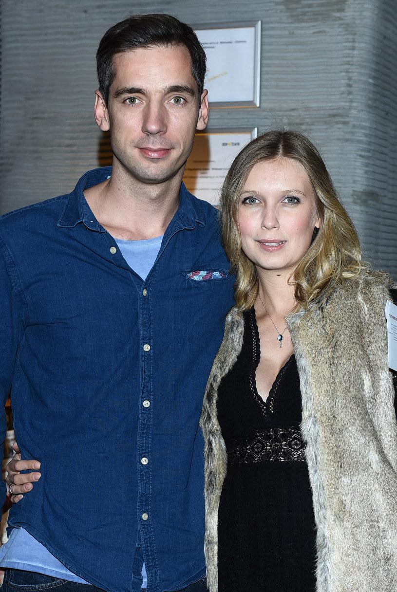 Magdalena Górska z mężem /Andras Szilagyi /MWMedia