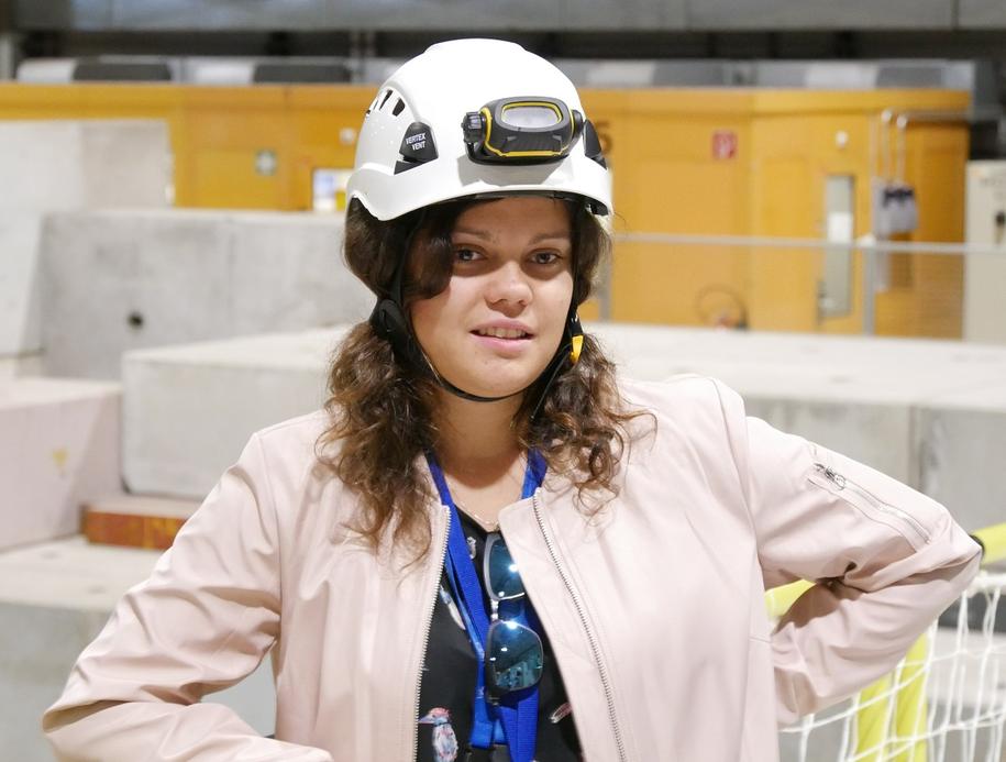 Magdalena Kaja - studentka z Politechniki Warszawskiej, która w CERN pracuje na stażu technicznym. /Grzegorz Jasiński /RMF FM