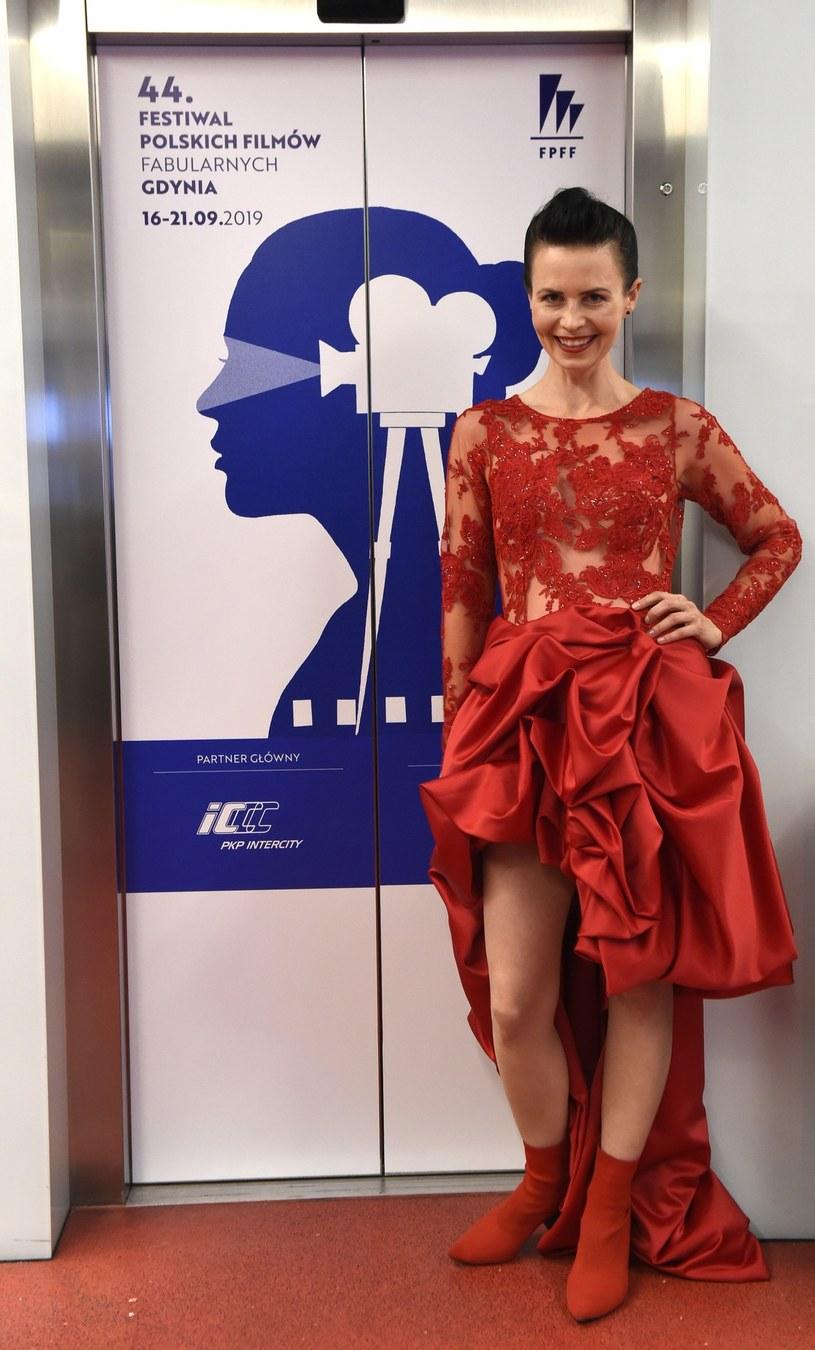 Magdalena Kumorek na Festiwalu Filmów Fabularnych w Gdyni /Maciej Kosycarz/KFP/REPORTER /East News
