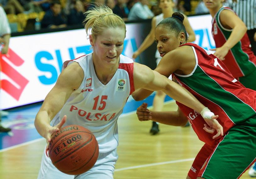 Magdalena Leciejewska zdobyła 11 punktów w meczu z Portugalią /Fot. Adam Warżawa /PAP