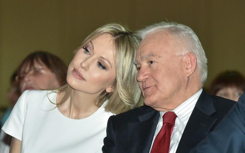Magdalena Ogórek i Leszek Miller na Sejmiku Kobiet /Jacek Domiński /Reporter