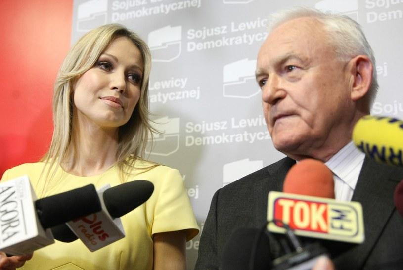 Magdalena Ogórek i Leszek Miller /Michał Dyjuk /Reporter