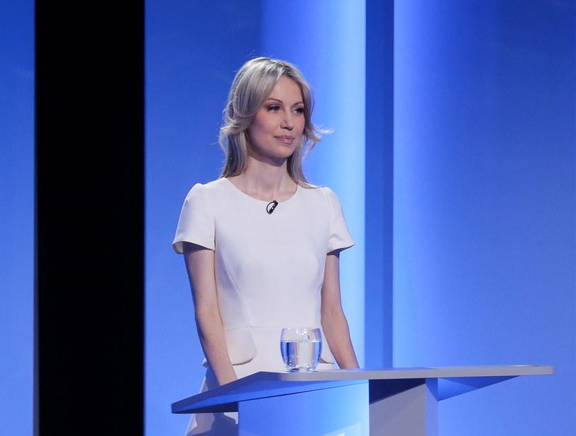 Magdalena Ogórek podczas debaty /Pawel Supernak /PAP