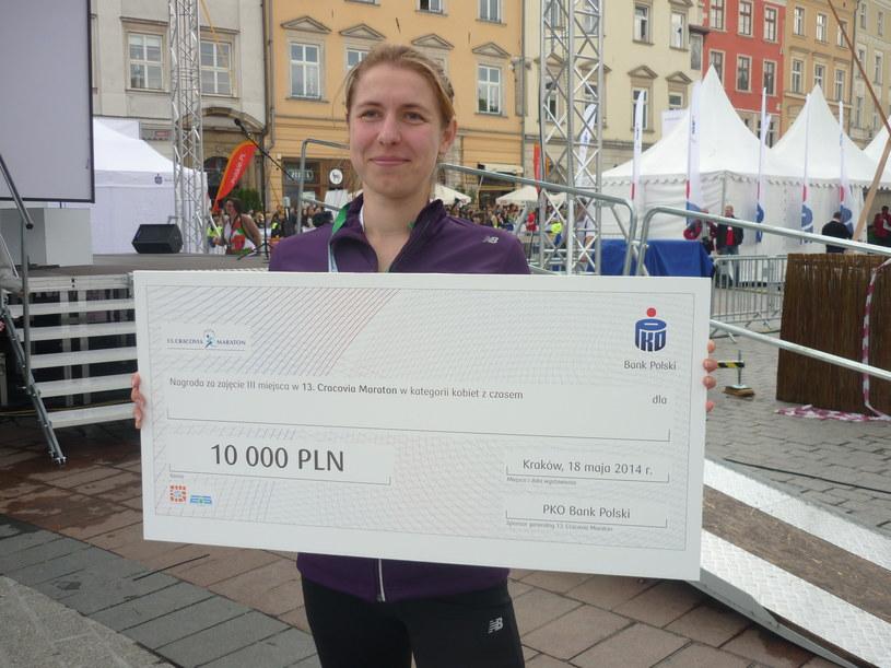 Magdalena Skarzyńska była najszybszą spośród Polek, a za trzecie miejsce wśród kobiet otrzymała 10 tys. zł. /Michał Białoński /INTERIA.PL