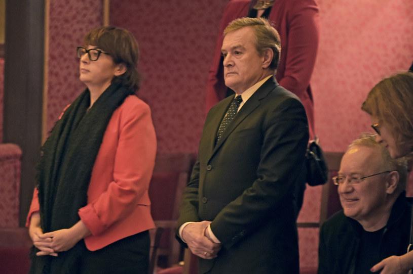Magdalena Sroka i minister kultury Piotr Gliński /AKPA