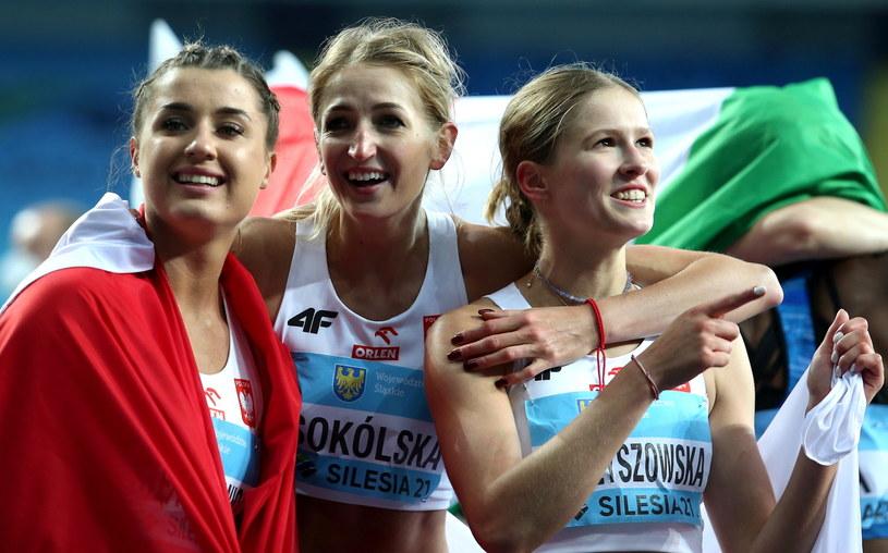Magdalena Stefanowicz, Katarzya Sokólska i Pia Skrzyszowska /Andrzej Grygiel /PAP