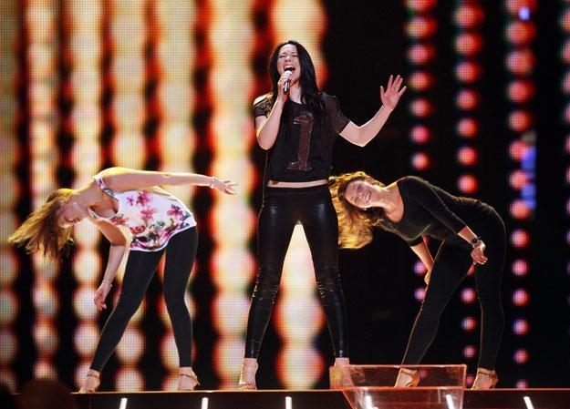 Magdalena Tul podczas próby przed występem na Eurowizji /Agencja FORUM