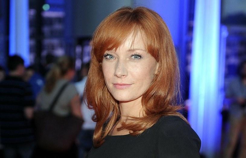 Magdalena Walach od lat pozostaje wierna rudym włosom /Mieczyslaw Wlodarski /Reporter