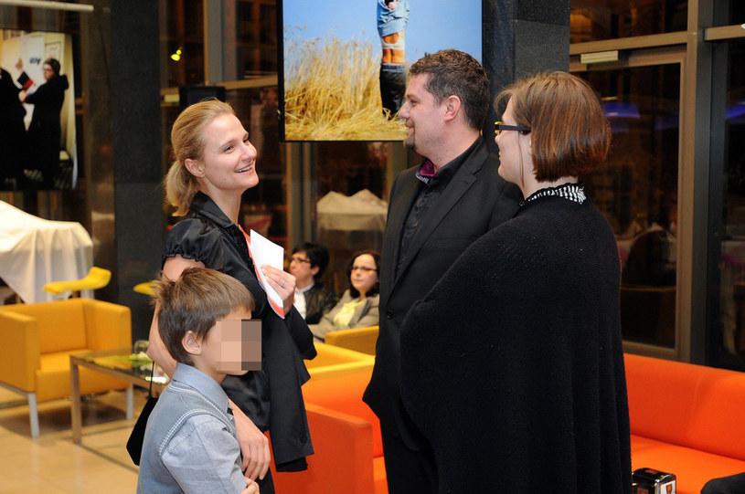 Magdalena Wałęsa z synem /Wojciech Stróżyk /Reporter